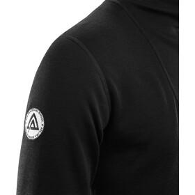Aclima DoubleWool Shirt Polo Avec Fermeture Éclair Homme, jet black/marengo